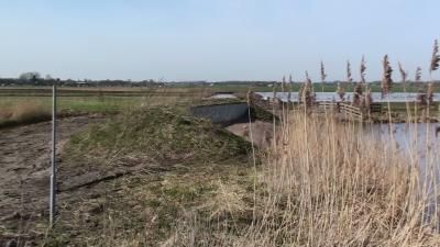 Aan de rand van de polder